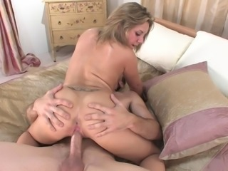 Dazzling pornstar giving an arousing titjob then gets drilled missionary