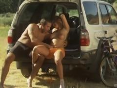 Safari-kind of passionate cock riding for the curvaceous Venus