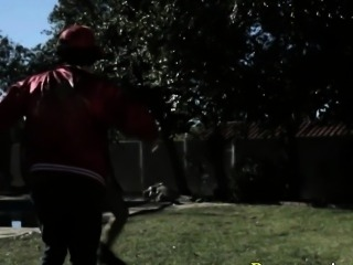 Emo whore fucked outdoors