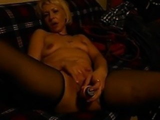 Traditional cousin with dildo