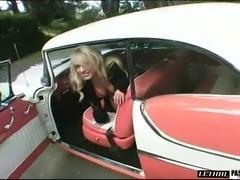 Blonde in high heels close up ravished hardcore doggystyle