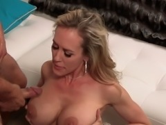 Wondrous blonde MILF is in need of a good-looking hunk's dick