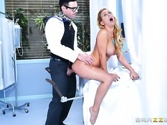 Charles Dera stretches sex obsessed Cherie Devilles mouth with his