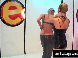 Dirty wet bitches taking cocks at a party