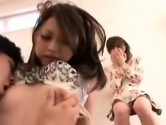 Charming Oriental girls putting their cocksucking talents o