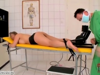 Thick Asian to pervert doctor's the table
