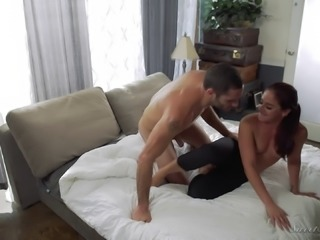 Sexy Sheena once again lets the muscular guy enter her depths