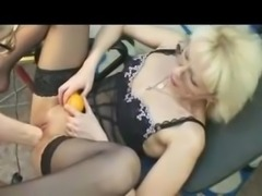 2 fisted blonde mature blonde squirt fest