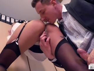 Nothing gets her off like pounding a long dong in the office