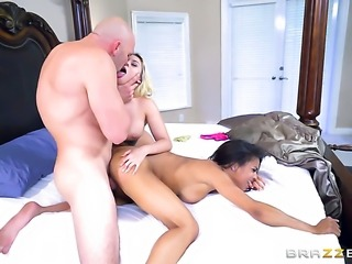 JMac fucks Blonde african Nicole Bexley with huge jugs in