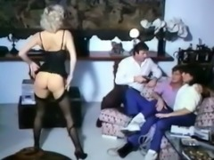 Incredible BDSM style classic threesome with wild milf