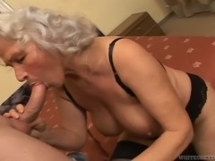 Age is just a number and this busty granny has a limitless sex drive