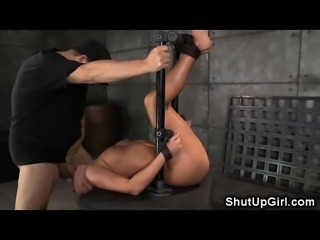 Restrained Babe Brutally Trained!