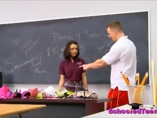 Wild College Girl Dillion Harper Caught Selling Panties Sucks Teacher