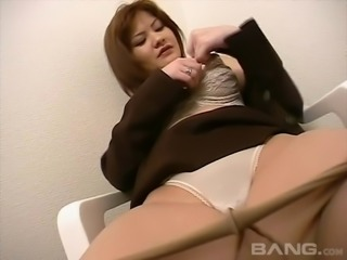 Another cute housewife from Japan prepares to do some cock sucking