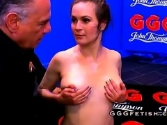Cute brunette shows festival of bukkakes
