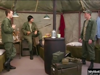 Ravishing Army chick Alexa Jaymes enjoys fingering her wet twat
