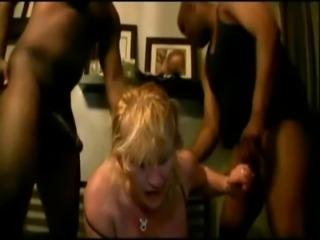 Blonde Wife Black Gangbang