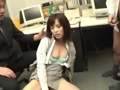 Horny office slut is sucking my stiff cock for your viewing entertainment