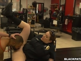 Thirsty for cock police officers fuck black stud with big D