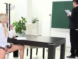 Lovable schoolgirl is seduced and poked by her aged teacher