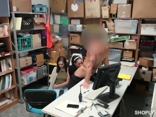 cute shoplifters were fucked by the police officer