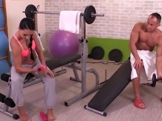 Muscular dude called Ridge bangs Victoria Sweet in the sauna