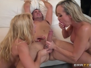 Both Alexis and Brandi are very keen to do some bouncing on that dick