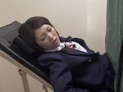 Japanese babe gets a dirty Gyno exam 3