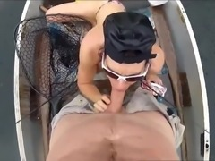 BJ on a boat