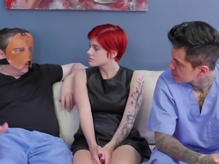 Torturing the sweet little redhead in all the nice BDSM ways