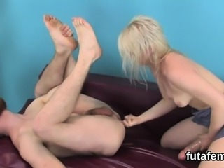Girls nail studs butthole with huge strap dildos and squirt