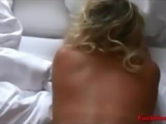 Big Ass Blonde Mom Spunked All Over Her Rear