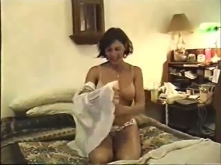 Awesome vintage home porn video with cute white milf
