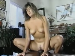 White insatiable slut is hungry for shiny black cock