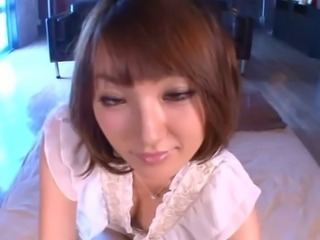 Foxy Tsubasa Amami blows and rides on stiff meat poles