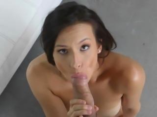 Alexis Deen close up hot blowjob