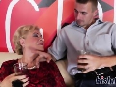 Mature bitches bang a young couple