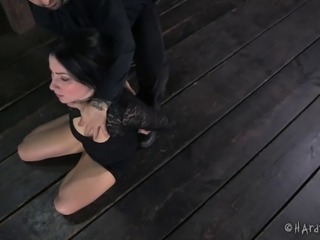Poor Veruca needs to handle the toy-penetration during the BDSM action