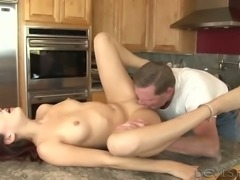 Purple haired spoiled chick Nikki Knightly had steamy sex with her man at...