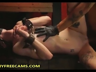 Big Cock For Blindfolded Teen In Fetish Bondage Show