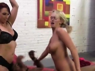 Emily and Nikki threesome fucking bbc interracial