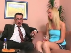 Aged teacher is having pleasure fucking young babe's twat