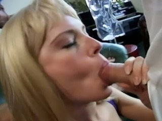 Dark haired whorish MILF Nici Sterling and her blond spoiled helpmate are in stout 4 some session