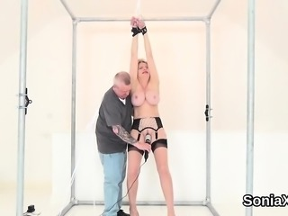 Unfaithful british milf lady sonia pops out her big naturals