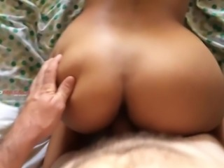 Indian Chick White Cock Doggy
