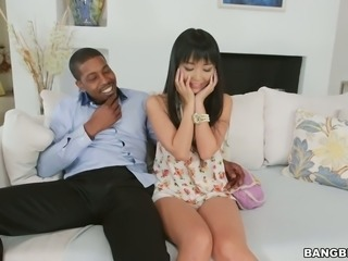 Asian seductress Marica Hase blacked brutally in arousing sex tape