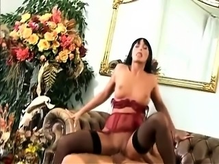 Saucy dark-haired chick wants to get fucked by this muscled stallion