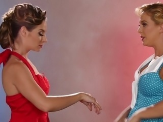 Great looking dancers cannot resist a sexual desire towards each other
