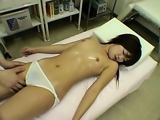 Flirty young eye candy gets undressed and fingered by a ski